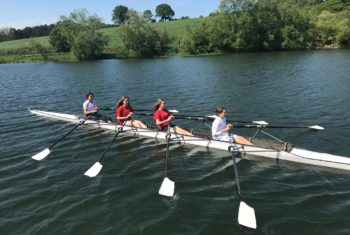 Jnr Rowers on the water